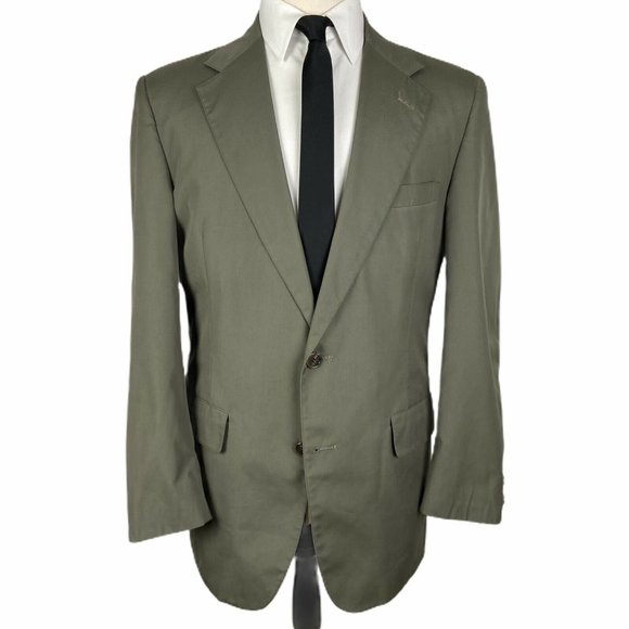 Brooks Brothers Other - Brooks Brothers Sport Coat 40R Cotton Olive Green